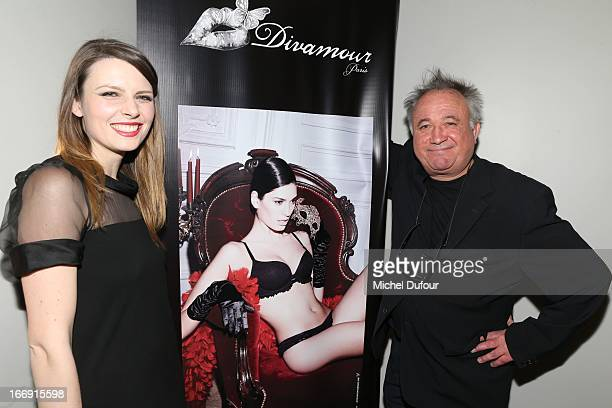 Elodie Frege and Andre Rau attend the 'Divamour' Launch Party at Tres Honore Bar on April 18 2013 in Paris France