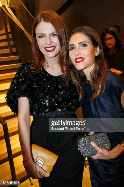 Elodie Frege and Joyce Jonathan attend the Max Mara 'Prism in Motion' Eventas with the presentation of the new collection Capsule of sunglasses Max...