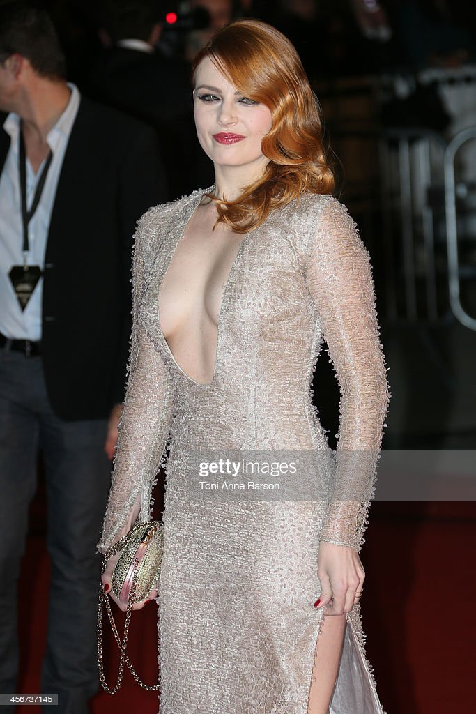 Elodie Frege arrives at the 15th NRJ Music Awards at the Palais des Festivals on December 14, 2013 in Cannes, France.