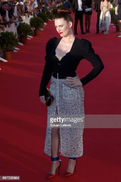 Elodie Frege attends closing ceremony red carpet of 31st Cabourg Film Festival on June 17 2017 in Cabourg France