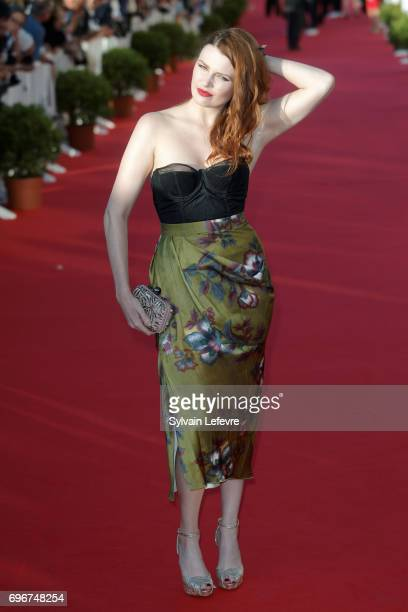Elodie Frege attends red carpet of 3rd day of the 31st Cabourg Film Festival on June 16 2017 in Cabourg France