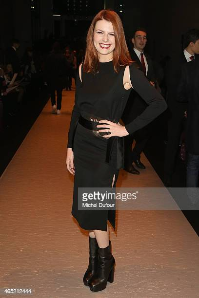 Elodie Frege Attends the Guy Laroche show as part of the Paris Fashion Week Womenswear Fall/Winter 2015/2016 on March 4 2015 in Paris France