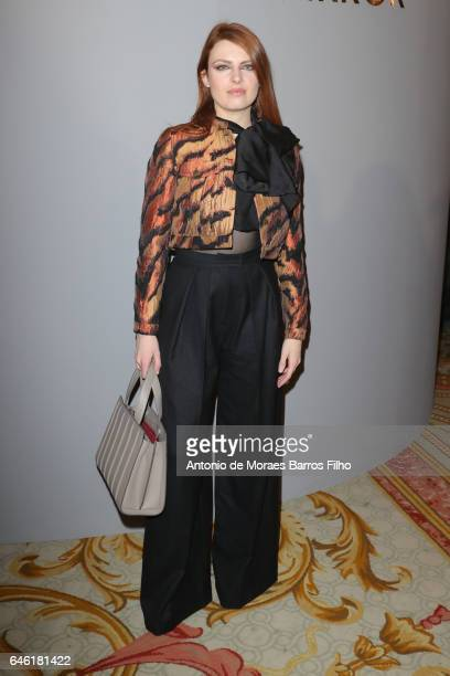 Elodie Frege attends the Paule Ka show as part of the Paris Fashion Week Womenswear Fall/Winter 2017/2018 on February 28 2017 in Paris France