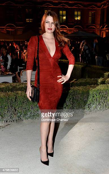 Elodie Frege attends the Tory Burch Paris Flagship store opening after party at on July 7 2015 in Paris France