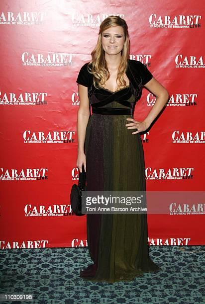 Elodie Frege during 'Cabaret' Le Musical de Broadway Live Premiere Arrivals at Les Folies Bergeres in Paris France