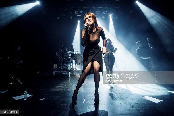 Elodie Frege of Nouvelle Vague performs on stage at sala Barts during Festival Milleni on March 3 2017 in Barcelona Spain