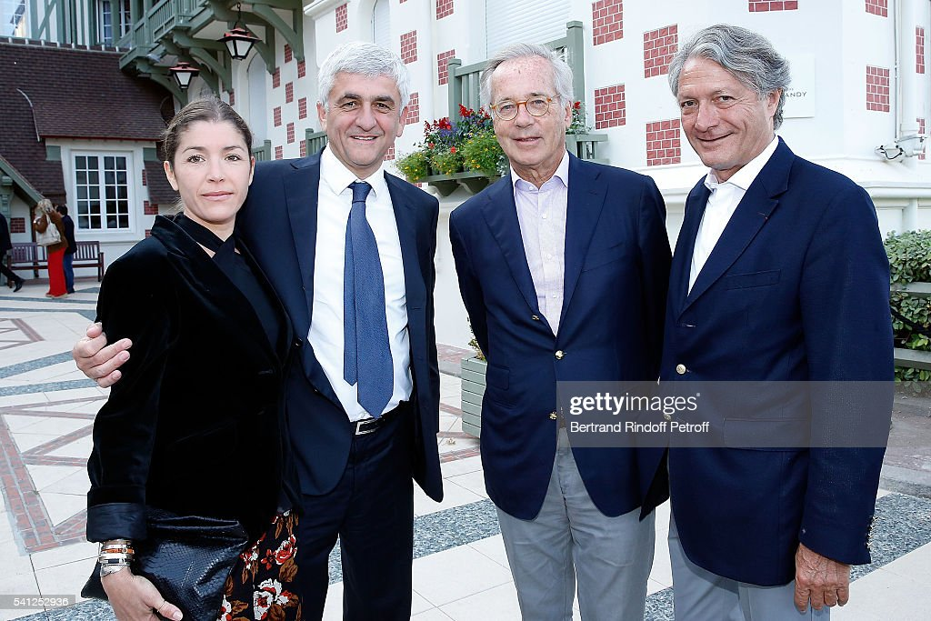 Elodie Garamond, Herve Morin, Olivier Orban and Mayor of Deauville Philippe Augier attend the Hotel Normandy Re-Opening at Hotel Normandy on June 18, 2016 in Deauville, France.