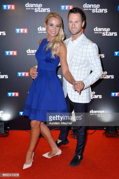 Elodie Gossuin and Christian Millette attend the 'Danse avec les Stars' photocall at TF1 on September 28 2017 in Paris France