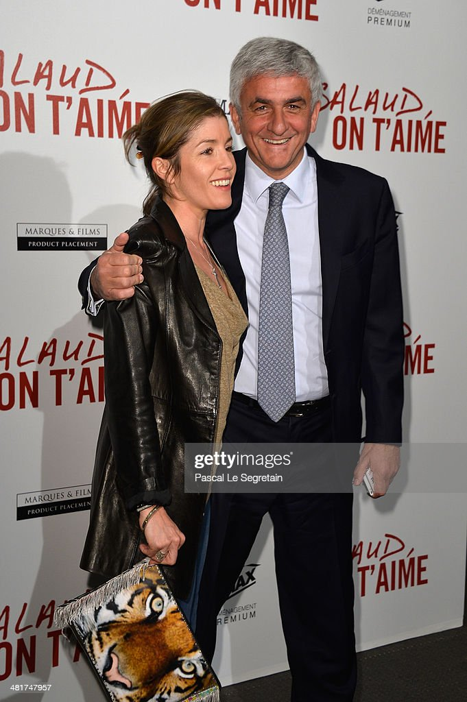 Elodie Morin and Herve Morin attend 'Salaud On T'Aime' Paris Premiere at Cinema UGC Normandie on March 31, 2014 in Paris, France.
