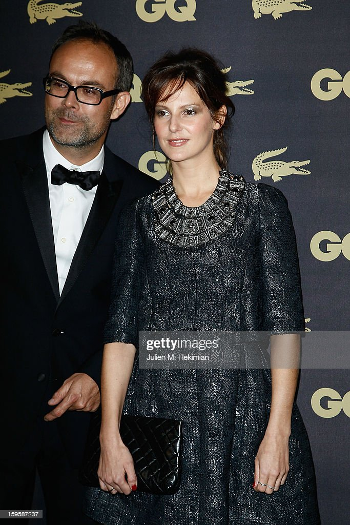 Elodie Navarre and guest attend GQ Men of the year awards 2012 at Musee d'Orsay on January 16, 2013 in Paris, France.