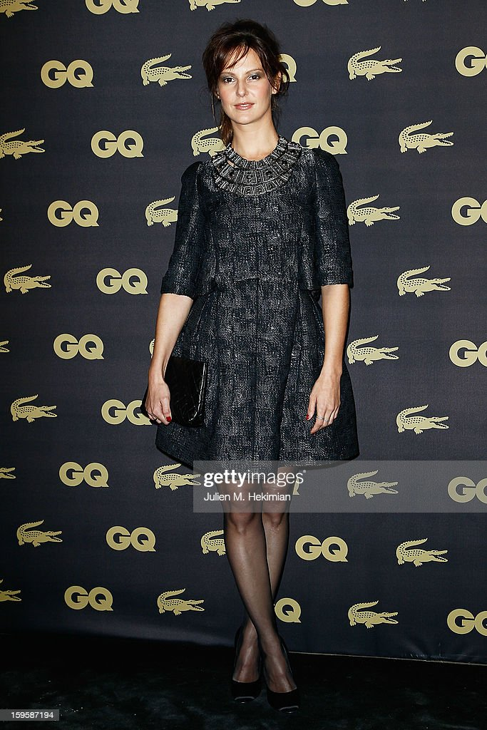Elodie Navarre attends GQ Men of the year awards 2012 at Musee d'Orsay on January 16, 2013 in Paris, France.