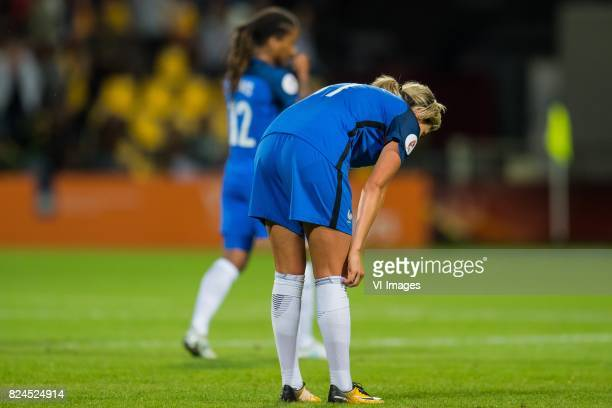 Elodie Thomas of France women Claire Lavogez of France women during the UEFA WEURO 2017 quarter finale match between England and France at The...