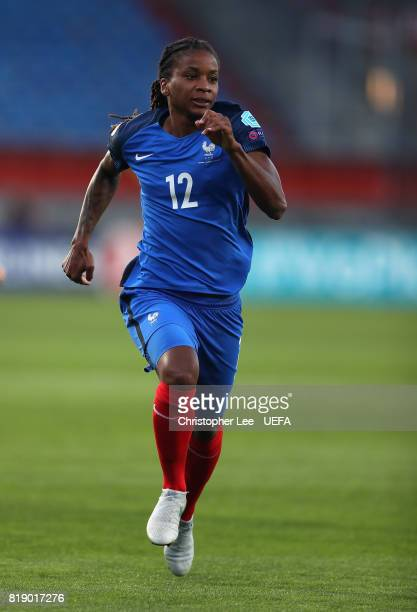 Elodie Thomis of France in action during the UEFA Women's Euro 2017 Group C match between France and Iceland at Koning Willem II Stadium on July 18...