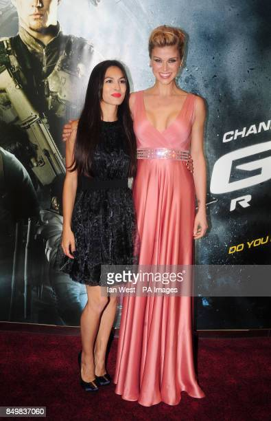 Elodie Yung and Adrianne Palicki arrive for the UK premiere of GI Joe Retaliation at the Empire Cinema in London