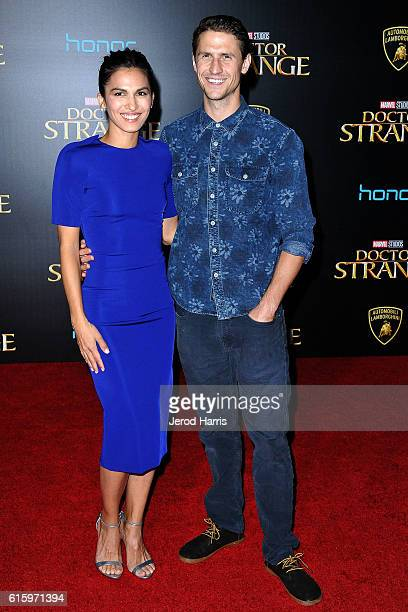 Elodie Yung and Jonathon Howard arrives at the Premiere of Disney and Marvel Studios' 'Doctor Strange' on October 20 2016 in Hollywood California
