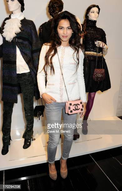 Elodie Yung attends a private view of the new CHANEL flagship boutique on New Bond Street on June 10 2013 in London England