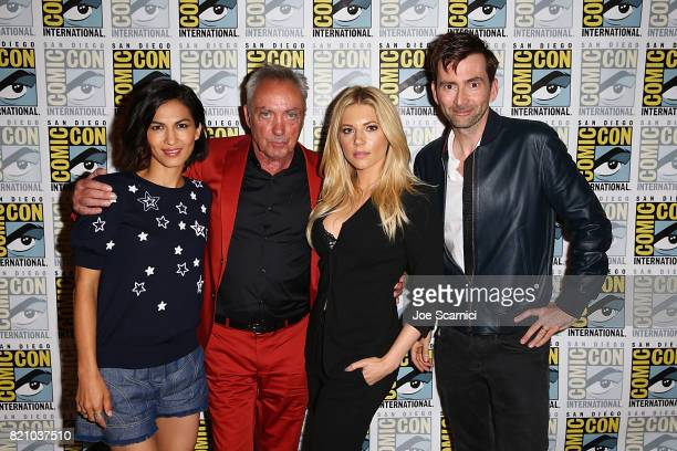 Elodie Yung Udo Kier Katheryn Winnick and David Tennant attend the 'Call of Duty WWII Nazi Zombies' Panel at San Diego Convention Center on July 20...