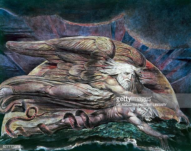 Elohim creating Adam or God creating Adam 17951805 by William Blake United Kingdom 18th19th century London Tate Gallery
