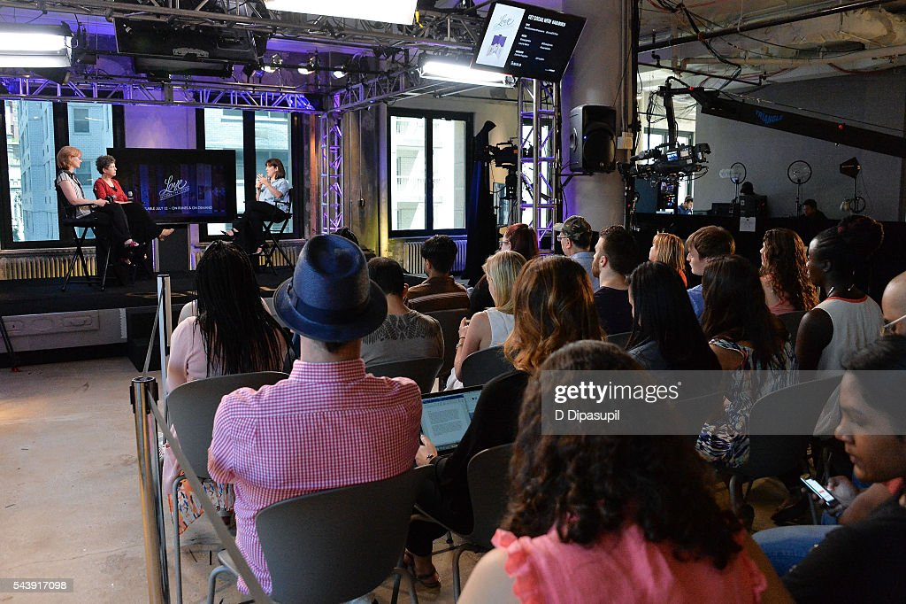 Eloisa James, Laurie Kahn, and Donna Freydkin attend the AOL Build Speaker Series to discuss the documentary 'Love Between the Covers' at AOL Studios In New York on June 30, 2016 in New York City.