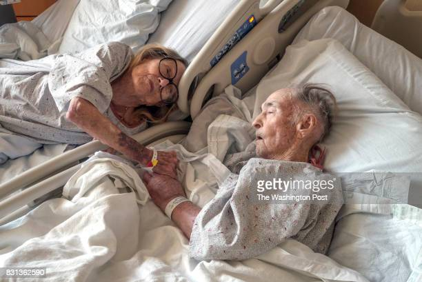 FILE Eloise and Col George Morris share a hospital room in FT Belvoir VA on December 20 2016 The couple has been married and sharing a bed for 73...