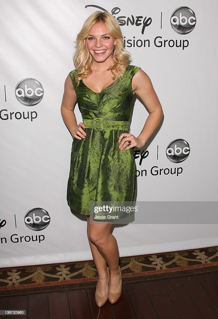 Eloise Mumford arrives to Disney ABC Television Group's 'TCA Winter Press Tour' at the Langham Huntington Hotel on January 10, 2012 in Pasadena, California.