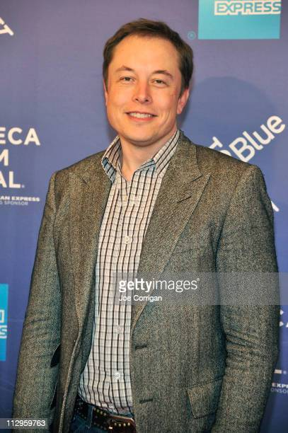 Elon Musk attends the premiere of 'Revenge of the Electric Car' during the 2011 Tribeca Film Festival at SVA Theater on April 22 2011 in New York City