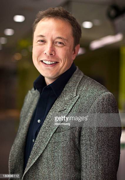 Elon Musk chief executive officer of Space Exploration Technologies Corp and Tesla Motors Inc stands for a photograph after a Bloomberg via Getty...