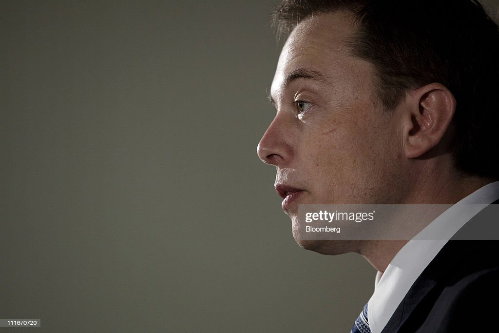 <a gi-track='captionPersonalityLinkClicked' href=/galleries/search?phrase=Elon+Musk&family=editorial&specificpeople=4448862 ng-click='$event.stopPropagation()'>Elon Musk</a>, chief executive officer of Tesla Motors Inc. and Space Exploration Technologies Inc. known as Spacex, speaks at a news conference at the National Press Club in Washington, D.C., U.S., on Tuesday, April 5, 2011. Musk announced that SpaceX plans to build a new rocket called the Falcon Heavy that is capable of taking people or cargo to the International Space Station, the moon, or even Mars. The rocket would be ready for use by the end of 2012. Photographer: Brendan Hoffman/Bloomberg via Getty Images