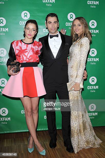 Elonora Carisi Luca Finotti and Candela Novembre attend Women's Circle 2013 In Milan on December 5 2013 in Milan Italy