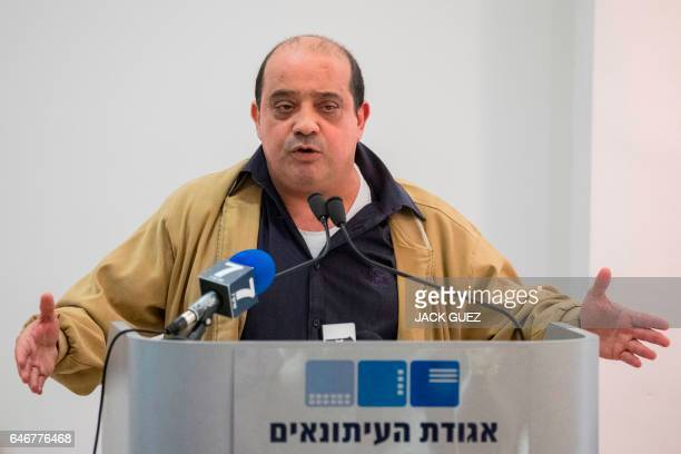 Elor Azaria's father Charlie gives a press conference on March 1 in the Israeli city of Tel Aviv Elor Azaria an Israeli soldier sentenced to 18...