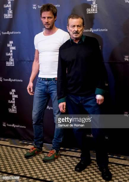 Eloy Azorin and Juan Diego attends 'Una Gata Sobre Un Tejado de Zinc Caliente' Madrid Premiere on March 23 2017 in Madrid Spain