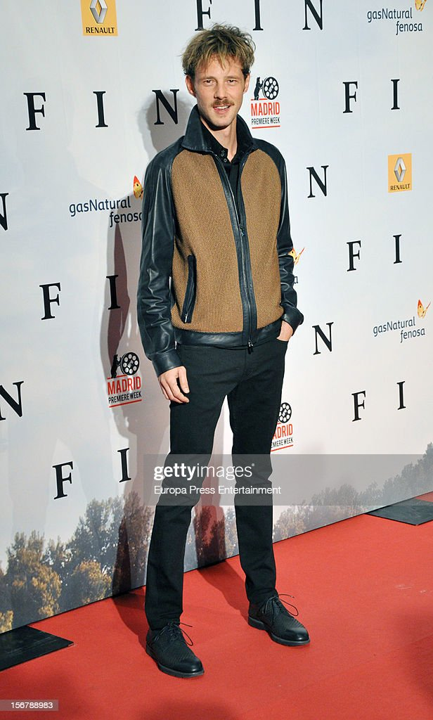 Eloy Azorin attends 'Fin' premiere on November 20, 2012 in Madrid, Spain.