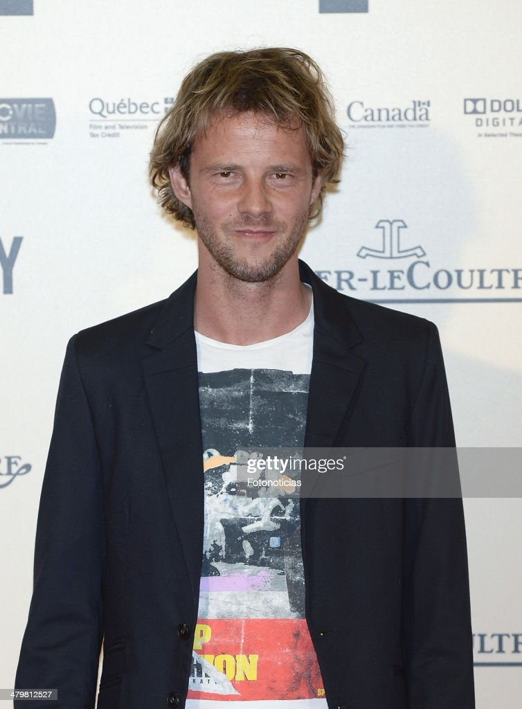 Eloy Azorin attends the premiere of 'Enemy' at Palafox Cinema on March 20, 2014 in Madrid, Spain.