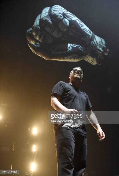 ElP of Run the Jewels performs in support of their 'RTJ3' release at Bill Graham Civic Auditorium on July 22 2017 in San Francisco California