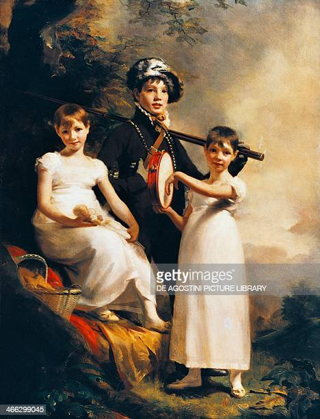 Elphinston's children ca 1814 painting by Henry Raeburn oil on canvas