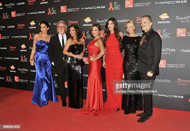 Elsa Anka Alberto Cerdan Ivonne Reyes Gisela Lydia Torrent Belen Rueda and Miguel Bose attend Gala Against Aids on November 23 2015 in Barcelona Spain