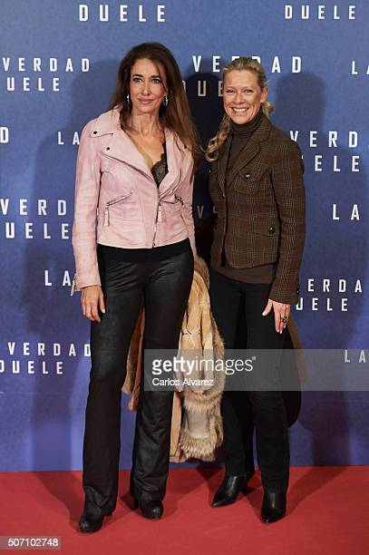 Elsa Anka and Concha Galan attend the Concussion premiere at the Callao cinema on January 27 2016 in Madrid Spain