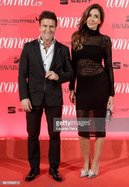 Elsa Anka and Ivan Manero attend the 'Woman 25th anniversary' photocall at Madrid Casino on October 18 2017 in Madrid Spain