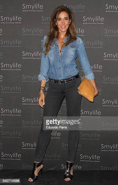 Elsa Anka attends the 'Smylife Collection Beauty Art' photocall at Smylife clinic on June 16 2016 in Madrid Spain
