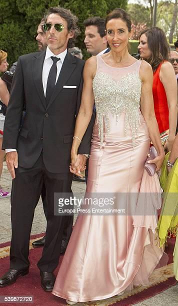Elsa Anka attends the wedding of Juan Carmona and Sara Verdasco at Santos Apostoles church on June 10 2016 in Madrid Spain
