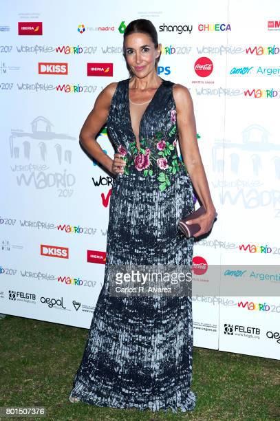 Elsa Anka attends the World Pride Award 2017 at the Italian Embassy on June 26 2017 in Madrid Spain