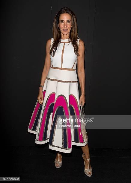 Elsa Anka is seen attending MercedesBenz Fashion Week Madrid Spring/Summer 2017 at Ifema on September 19 2016 in Madrid Spain