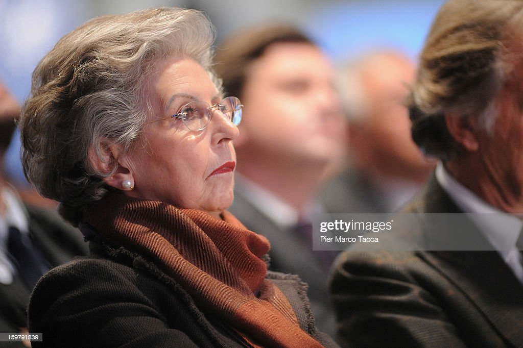 Elsa Antonioli, wife of Italian Prime Minister Mario Monti's, attends the convention of of Monti's centrist alliance 'With Monti For Italy' (Con Monti Per L'Italia) at Kilometro Rosso on January 20, 2013 in Bergamo, Italy. Monti used the rally to unveil the list of candidates for the 'Civic Choice' (Scelta Civica) movement, a bloc that will form part of the centrist alliance running in February's parliamentary elections.