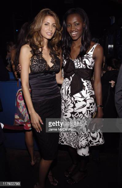 Elsa Benitez and Oluchi Onweagba during 2006 Sports Illustrated Swimsuit Issue After Party at Crobar in New York City New York United States