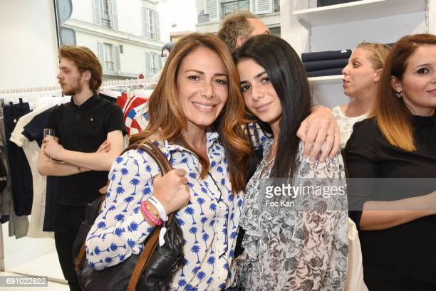 Elsa Fayer and daughter Ambre Fayer attend Le Coq Sportif x Guerlain photocall at the Le Coq Sportif Flagship on May 31 2017 in Paris France