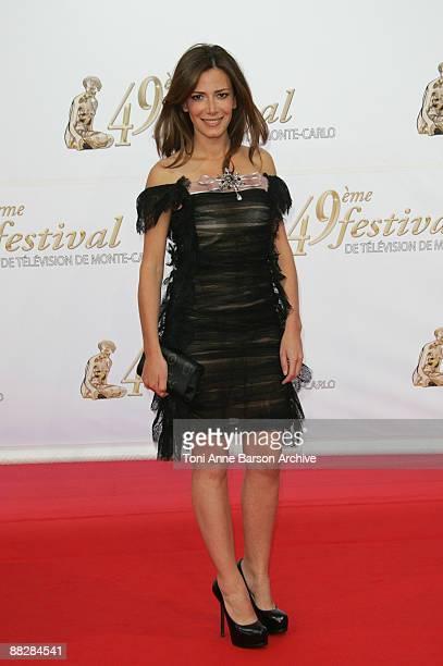 Elsa Fayer arrives at the 49th Monte Carlo Television Festival at the Grimaldi Forum on June 7 2009 in MonteCarlo Monaco