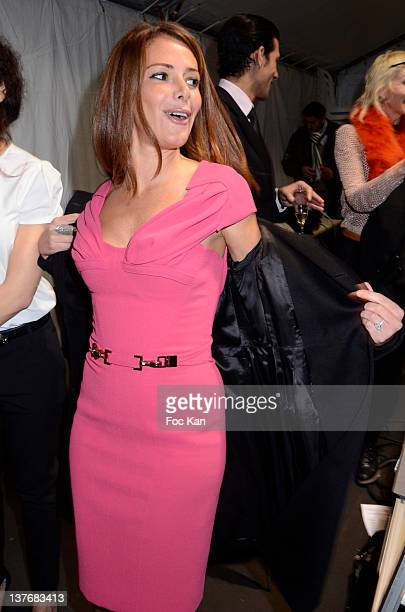 Elsa Fayer attends the Basil Soda Front Row /Backstage Paris Fashion Week Haute Couture S/S 2012 at the Couvent des Cordeliers on January 24 2012 in...