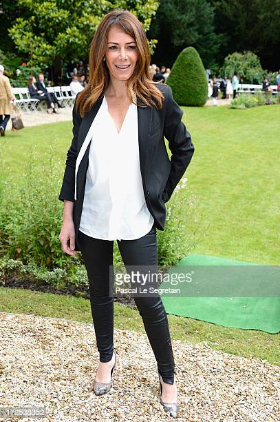 Elsa Fayer attends the Frank Sorbier show as part of Paris Fashion Week HauteCouture Fall/Winter 20132014 at Hotel De Bezenval on July 3 2013 in...