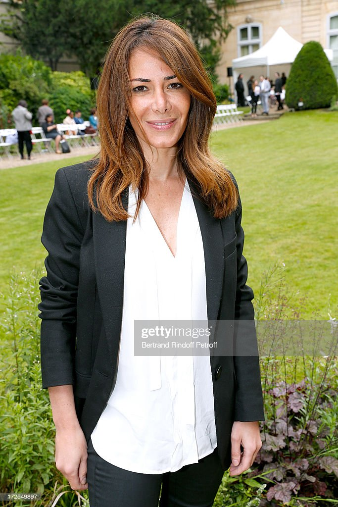 Elsa Fayer attends the Frank Sorbier show as part of Paris Fashion Week Haute-Couture Fall/Winter 2013-2014 at Hotel De Bezenval on July 3, 2013 in Paris, France.