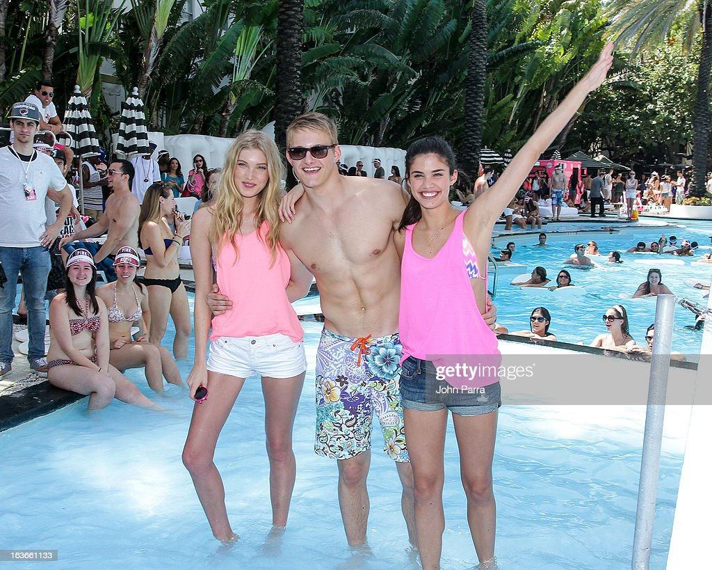 <a gi-track='captionPersonalityLinkClicked' href=/galleries/search?phrase=Elsa+Hosk&family=editorial&specificpeople=4436101 ng-click='$event.stopPropagation()'>Elsa Hosk</a>, Alexander Ludwig and Sara Sampaio attend the Victoria's Secret PINK Ultimate Spring Break Dance Party in Miami at Raleigh Hotel on March 13, 2013 in Miami Beach, Florida.